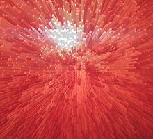Red abstract background by alexmak