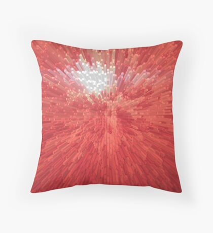 Red abstract background Throw Pillow