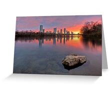 Austin Skyline in December from Ladybird Lake Greeting Card