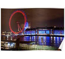 London Eye @ Night Poster