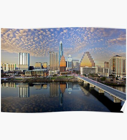Austin Skyline in the Late Afternoon 2 Poster
