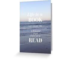 Life is a Book- Cassandra Clare- Beach Greeting Card
