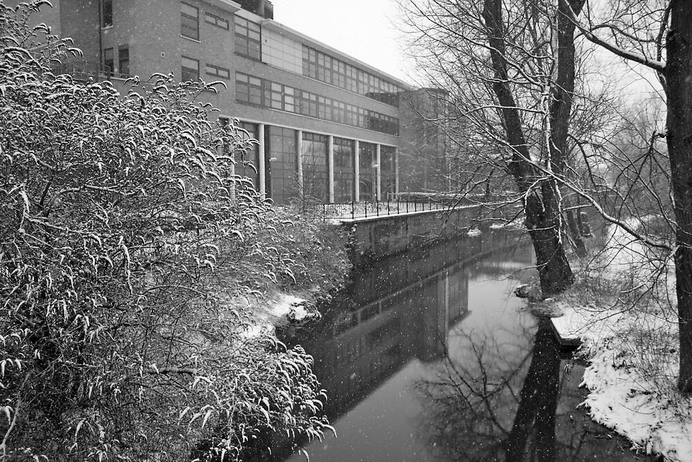 River scene - snowing by Lorna81