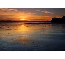Sunset in Three Cliffs Photographic Print