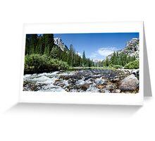 Cascade Canyon Cascades - Grand Teton National Park, Wyoming Greeting Card