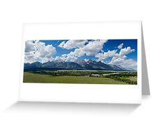 The Grand Tetons Panorama - Grand Teton National Park, Wyoming Greeting Card