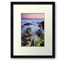 Dusk on the Rocks Framed Print