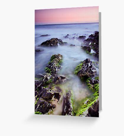 Dusk on the Rocks Greeting Card
