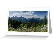 Highline Trail Panorama.2 - Glacier National Park, Montana Greeting Card
