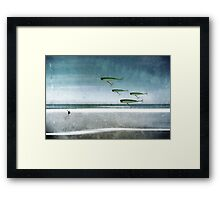 Fishing Abstract Framed Print