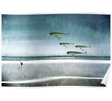 Fishing Abstract Poster