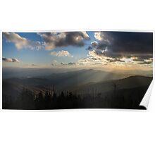 Clingmans Sunset - Great Smoky Mountains National Park, North Carolina Poster