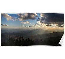 Clingmans Sunset - Great Smoky Mountains National Park, North Carolina Poster
