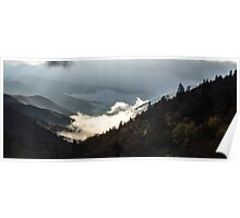 Morning Fog - Great Smoky Mountains National Park, North Carolina Poster