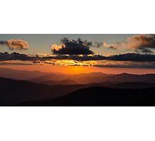Clingmans Sunset.2 - Great Smoky Mountains National Park, North Carolina Photographic Print