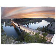 Pennybacker Bridge Sunset near Austin, Texas 2 Poster