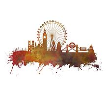 London skyline sightseeing Photographic Print