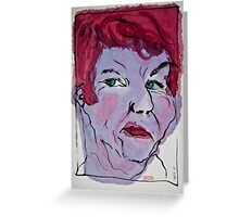 portrait 1 Greeting Card