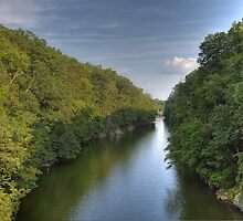 Housatonic River at Lovers Leap by Clarkartusa