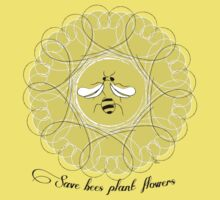 Save Bees Plant Flowers Kids Clothes