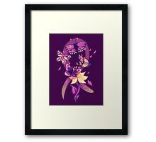 Beautiful purple butterflies  Framed Print