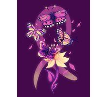 Beautiful purple butterflies  Photographic Print