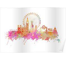 London skyline underground Poster