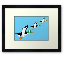 8-Bit Nintendo Duck Hunt 'Trio' Framed Print
