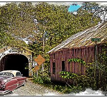 BACK IN TIME  old cars old barns old bridges by Randy Branham