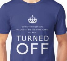 TURNED OFF tee-shirt design white letters Unisex T-Shirt