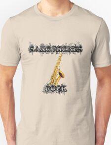 Saxophones Rock Unisex T-Shirt