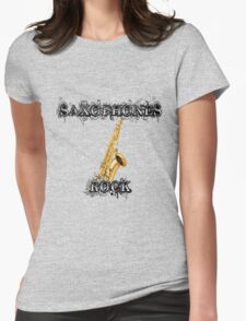 Saxophones Rock Womens Fitted T-Shirt