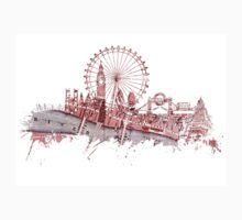 London skyline maps Kids Tee