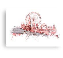 London skyline maps Canvas Print