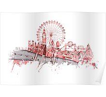 London skyline maps Poster
