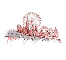 London skyline maps Photographic Print