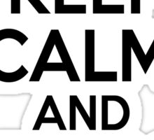 Keep Calm and Play On Flute Sticker
