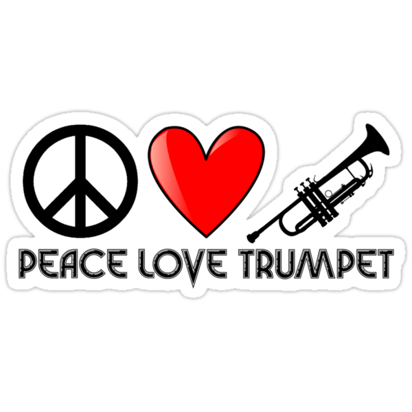 Peace, Love, and Trumpet by shakeoutfitters