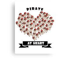 Pirate at Heart t-shirts, phone cases  Canvas Print