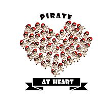 Pirate at Heart t-shirts, phone cases  Photographic Print