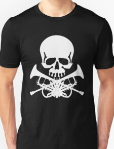 Skull with Trumpet Crossbones Unisex T-Shirt