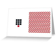 Numbers WHITE+red-10 Greeting Card