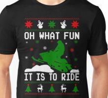 Snowmobile Ugly Christmas Unisex T-Shirt
