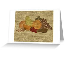 Still Life with Fruit and Chocolate Greeting Card