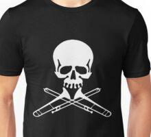 Skull with Trombone Crossbones Unisex T-Shirt