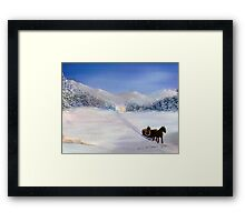 Sleigh Ride Framed Print