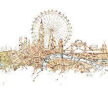 London skyline Maps Big Ben by JBJart