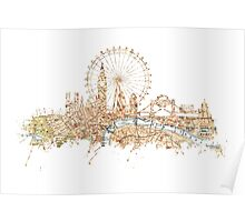 London skyline Maps Big Ben Poster