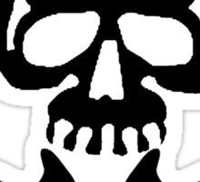 Skull with Trombone Crossbones Sticker