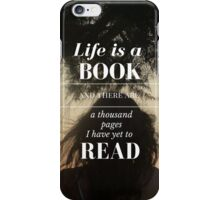 Life is a Book- Cassandra Clare- Sunset Girl iPhone Case/Skin